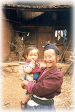 woman and child in SW China