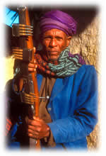 Ethiopian man with gun