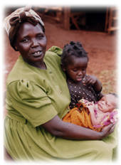 Kenyan woman and child