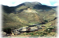 mountain village in Lesotho