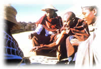 groups of men in Lesotho