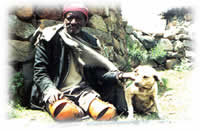 disabled man in Lesotho