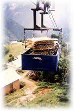 mountain lift for freight in Nepal