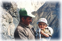father and child in Shimshal, Pakistan