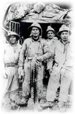 group of Peruvian miners